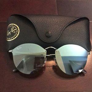 Ray Ban Silver Blaze Round Sunglasses